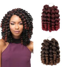 $enCountryForm.capitalKeyWord Australia - Wand Curl Jumpy Wand Jamaican Bounce Curl Crochet Hair Crochet Braids Hair Extensions Ombre 20 strands Kanekalon Braiding