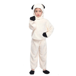 $enCountryForm.capitalKeyWord NZ - Little Lamb Costume Kids Sheep Cosplay Suit Animal Costume Fancy Dress Top Pants with Hood Halloween Costume for Children
