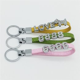 Ring Slides Australia - Sales DIY 10MM Car Keychains Personalized Key Rings Wholesale,Don't Include Slide Letters Charms KC01