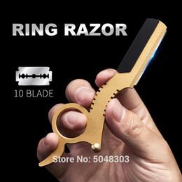 EyEbrow bladEs online shopping - Profession Straight Edge Barber Razor Classic Easy Blade Change Hair Clipper Salon Shaving Razor Manual Shaving Eyebrow Trimming