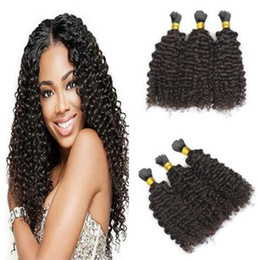 kinky hair for braiding Australia - Human Hair Bulks No Weft Cheap Hair Brazilian Kinky Curly Hair Bulk for Braids No Attachment
