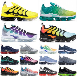 Discount mens rainbow sneakers 2020 New TN Plus Racer Blue University Red Women Mens Running Sports stylist Shoes Spirit Teal Geometric Active Rainbow Men Sneaker Trainer