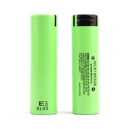 NCR18650B Panasonic 3400mAh 18650 Bateria 3.7 V 3200 mAh bateria litowa Li-on Cell Płaskie góry Akumulatory do Panasonic ECIG