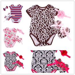 $enCountryForm.capitalKeyWord NZ - Leopard Baby Girl Clothes Suit Newborn Bodysuit First Walker Headband 3pcs Sets Baby Jumpsuits Shirts Cotton Girls Clothing 0-2YEAR