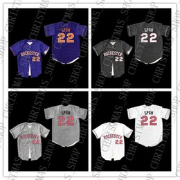 NCAA barato Da Faculdade de Beisebol Jersey span 22 Rochester Jersey Jersey Ponto Costurado Novas cores frete grátis venda por atacado