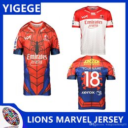 68fb58f76a5 LIONS 2019 SUPER RUGBY MARVEL JERSEY 2019 2020 2019 new Super rugby League  jerseys Lions rugby jerseys size S-3XL (can print)