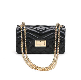 $enCountryForm.capitalKeyWord UK - Small fragrance rhombic chain glossy jelly package new female mini bag shoulder slung lock bag Cross Body