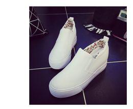 $enCountryForm.capitalKeyWord Australia - Spring Autumn canvas shoes Women Platform shoes 2019 Fashion Women White Shoes student Wedge