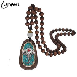 $enCountryForm.capitalKeyWord Canada - umfeel New Handmade Jewelry Pendant & Necklace Vintage Style Knotted Beads Chain Wood Elephant Necklace Gifts Yumfeel New Handmade Je...