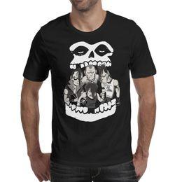 Punk Skull Shirt Australia - Men design printing Skull Ghost Misfits Punk black t shirt printing personalised cool make a friends shirts awesome t shirt slim fit tr