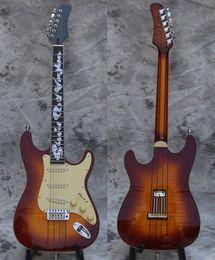 $enCountryForm.capitalKeyWord Australia - High Quality Electric Guitar, Best quality Guitars, Neck thru body strat, upgraded quality hardwares, solid falmed maple body, shipped quick