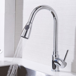 Wholesale tap out for sale - Group buy Kitchen Faucets Silver Single Handle Pull Out Kitchen Tap Single Hole Handle Swivel Degree Water Mixer Tap Mixer Tap
