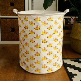 $enCountryForm.capitalKeyWord Australia - Brand Direct Sell Cartoon Words Letters Cotton Waterproof Open Storage Bucket Dirty Clothes Storage Basket Can Be Customized Hamper