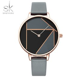 Elements Battery NZ - Sk K0072 New Fashion Colour-blocking Element Women Watches Top Casual Watch Reloj Mujer Relogio Feminino