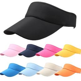 23c46d0faf840a Sun Visor Hats Wholesale UK - 11 Colors Men Women Sun Visor Hat Hot Sports  Tennis