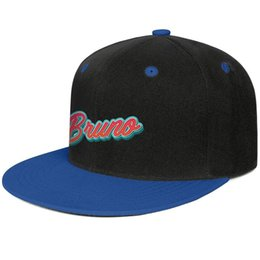 ad18dcd6ac5f4c Bruno Mars Blue mens and womens hip-hop flat brim cap design fitted golf  blank vintage custom stylish personalised flat brim hats