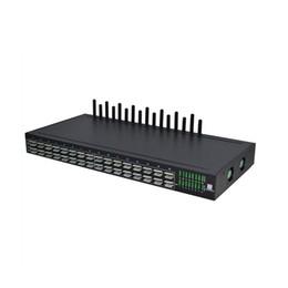 Venta al por mayor de Envío gratuito 16 puertos GSM Gateway 64 SIM Auto Rotation Voip Gateway para un año de garantía Equipo del centro de llamadas