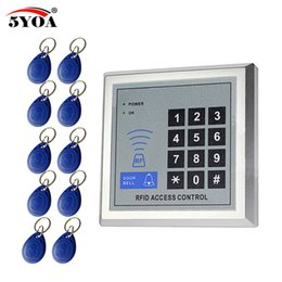 control security systems Canada - Access Control Kits 5YOA RFID Access Control System Device Machine Security Proximity Entry Door Lock Quality