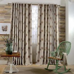 living curtains NZ - High-end Coffe  Gray Dandelion Jacquard Faux Linen Curtains for the Bedroom Windows Drapes Fabric for Living Room