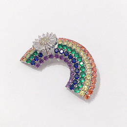 Chinese  Fashion Rainbow Bridge Brooches Ladies Luxury Design Colorful Brooch Womens Dress Brooches Fashion Hip Hop Jewelry Lover Gift manufacturers