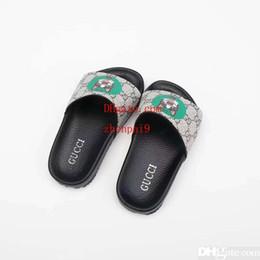 $enCountryForm.capitalKeyWord Australia - Kid slipper boy house dress slippers shoe girl black cheap sandals leather shoes for baby boy girl dress Eu 26-35