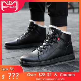 $enCountryForm.capitalKeyWord NZ - fashion winter boots men shoes warm fur snow boots pu leather winter work shoes men ankle winter footwear for men boots 2018
