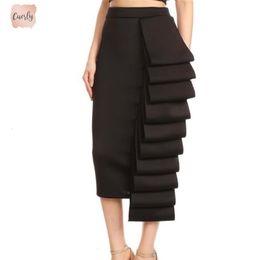 Modest spring fashion online shopping - Women Pencil Skirt High Waist Slim Midi Solid Modest Classy Female Fashion Hip Jupes Falad Officewear Elegant Package