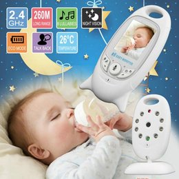 Wholesale Wireless Baby Monitor Way Talk Night Vision IR Nanny Babyfoon Baby Camera with Music Temperature 2.0 inch Color Screen CCA11439-B 2pcs