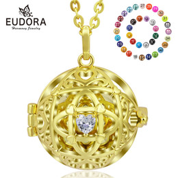 $enCountryForm.capitalKeyWord UK - wholesale 18mm Mexico bola Pendant Harmony Pregnancy Ball Necklace Gold Heart CZ Cage Locket fit Musical Sound Chime Ball K247G18