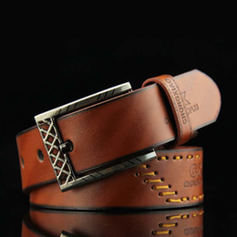 New Fashion Style Good Quality Luxury Leather Men Belts For Strap Male Pin Buckle Masculino 110cm Birthday Gift