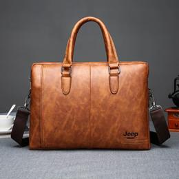 $enCountryForm.capitalKeyWord Australia - Trend Messenger Bags Retro Business Briefcase Men's Outdoor Storage Handbag Simple Solid Color Large Capacity Computer Bag
