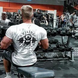 Gym Tees NZ - Viking Gyms T Shirt Crossfit Brand Clothing Fitness T-shirt Compression Short Sleeve Tshirt Bodybuilding Workout Tee-shirt Plus S418