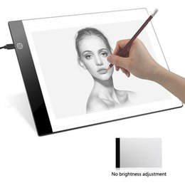 Digital light boarDs online shopping - A4 Digital Drawing Graphic Board LED Light Box Tracing Copy Board Painting Writing Pad Table for Kids Gift no Dimming
