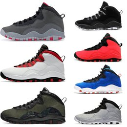cb07cc536f35c1 Hot sale 10 10s cement mens basketball shoes black white Bobcats Chicago Cool  Grey Im Back Westbrook trainers sports designer shoes sneakers