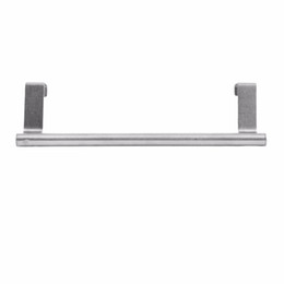 towel hang UK - Bathroom Door Kitchen Towel Over Holder Drawer Hook Storage Scarf Hanger Cabinet Hanging Stainless Steel Towel Rack Leading Life
