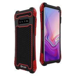 SamSung galaxy S pluS coverS online shopping - Carbon fiber Heavy Duty Protection Cover Metal Case For Samsung Galaxy S10 Cases Shockproof Protector Cover S10 Plus Casing S
