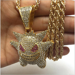 $enCountryForm.capitalKeyWord Australia - Hip Hop Jewelry Mask Gengar Necklace New Arrival Pendantt Cubic Zircon Copper Necklace Iced Out Chain Mens Gift