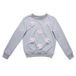 $enCountryForm.capitalKeyWord UK - Women Casual Floral Solid Colour O-neck Cotton Long Sleeve Sweatshirt
