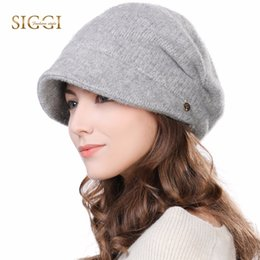 fc6f6793bdf75 FANCET Winter Newsboy Caps For Women Solid Wool Acrylic Visor Beanies Cap  Berets Warm Fleece Fashion Cold Weather Hats 99139