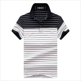 Polo Business NZ - 2019 summer new High quality cotton Polos classic Men Polo Shirt Men Business Casual Stripe splicing Short Sleeve tops tee M-4XL
