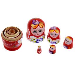 Matryoshka Toys Australia - doll 5pcs set Wood Russian Dolls Wooden Nesting Babushka Matryoshka Hand Paint Dolls Baby Toys for Girls