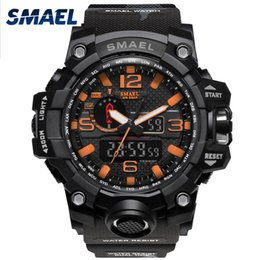 $enCountryForm.capitalKeyWord Australia - SMAEL Brand Orange Camouflage Military Watches Digital LED Wristwatch Sport Watch for Male Luxury Clock Military Army Watch
