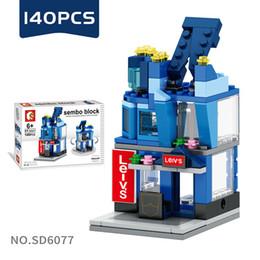 Age Blocks Australia - Mini World Little Shop Series City Building Assembled Mini blocks Children's Puzzle Toys for Age 6 Up
