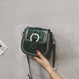 $enCountryForm.capitalKeyWord NZ - 2019 New fashion ladies Saddle bag Fashion bags Hasp bags ladies Chain bags shoulder bag Stripes Fashion bag maitong 7