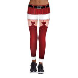 dddc2f7ddc6b16 Brand New Women's Christmas Sports YOGA Workout Gym Fitness Leggings Pants  Santa Christmas Trousers