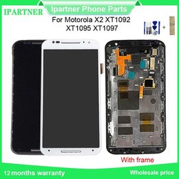 lcd screen moto x NZ - For Motorola For Moto X2 X+1 Xt1092 Xt1095 Xt1097 LCD Display Touch Screen Digitizer Assembly Replacement For Moto X2 with frame