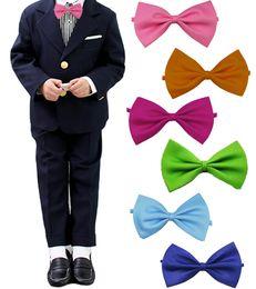 $enCountryForm.capitalKeyWord Australia - Children Fashion Formal Cotton Bow Tie Kid Classical Bowties Colorful Butterfly Wedding Party Pet Bowtie Tuxedo Ties