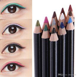 Wholesale Eye Pencils Australia - Hot Sale 12 Colors Waterproof Eyeliner Pencil Long-lasting Eye Liner Pencils Makeup Cosmetics For Eyes Make up Set Beauty Tools