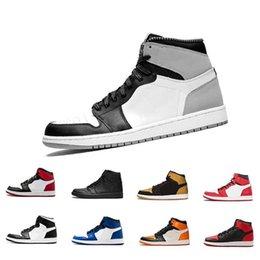 Best Designer Sandals Australia - 2019 HOT 1 High OG Mens Basketball Shoes NEW zapatos Toe Shadow Gold Top Best Quality fashion luxury mens women designer sandals shoes