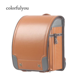 new backpacks Australia - 2019 NEW Japanese School Bags For Boys PU leather Orthopedic Backpack Automatic buckle Randoseru Large Capacity Kids Schoolbag